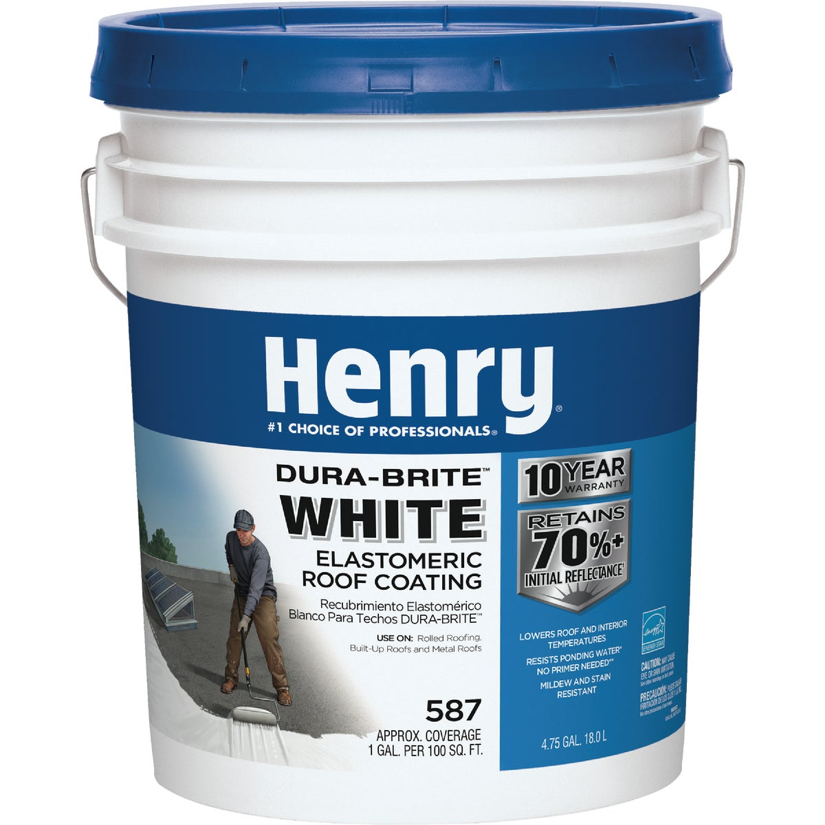 5GL WHITE ROOF COATING - HE587372 by Henry Company