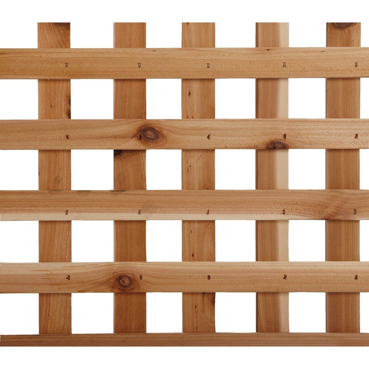 4' x 8' Privacy Cedar Lattice Panel