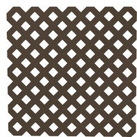 UFPI Plastic Lattice 4X8 DKBN PRIVACY LATTICE 79952