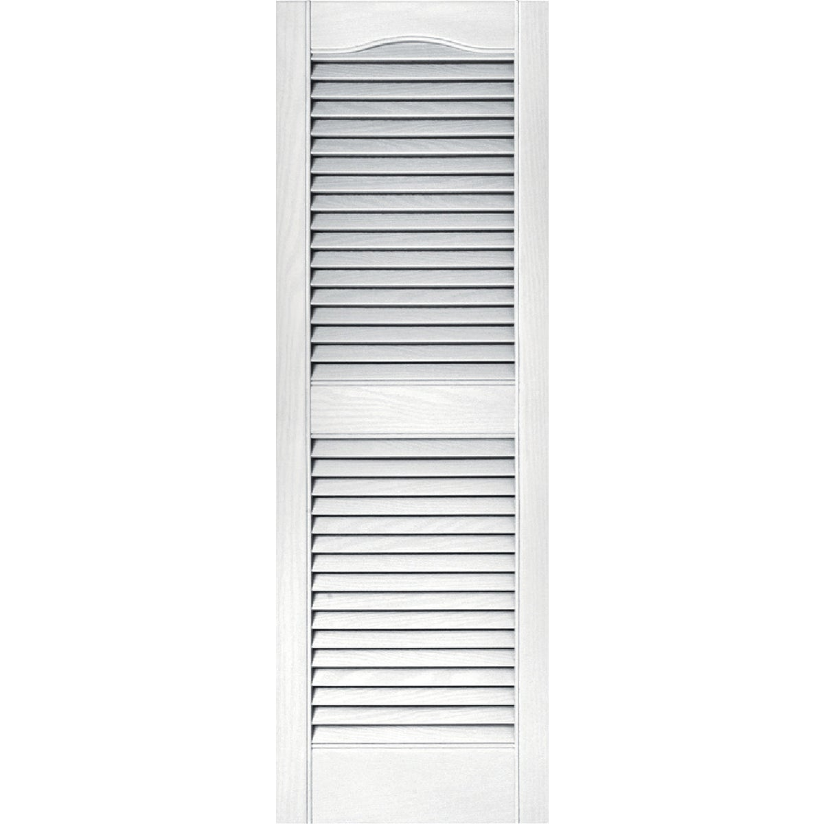 15X43 WHT LOUVER SHUTTER - 020140043001 by The Tapco Group