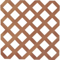UFPI Plastic Lattice 4X8 REDWOOD LATTICE 79900