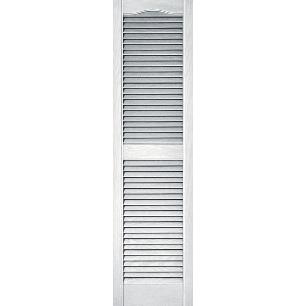 15X55 WHT LOUVER SHUTTER - 020140055001 by The Tapco Group