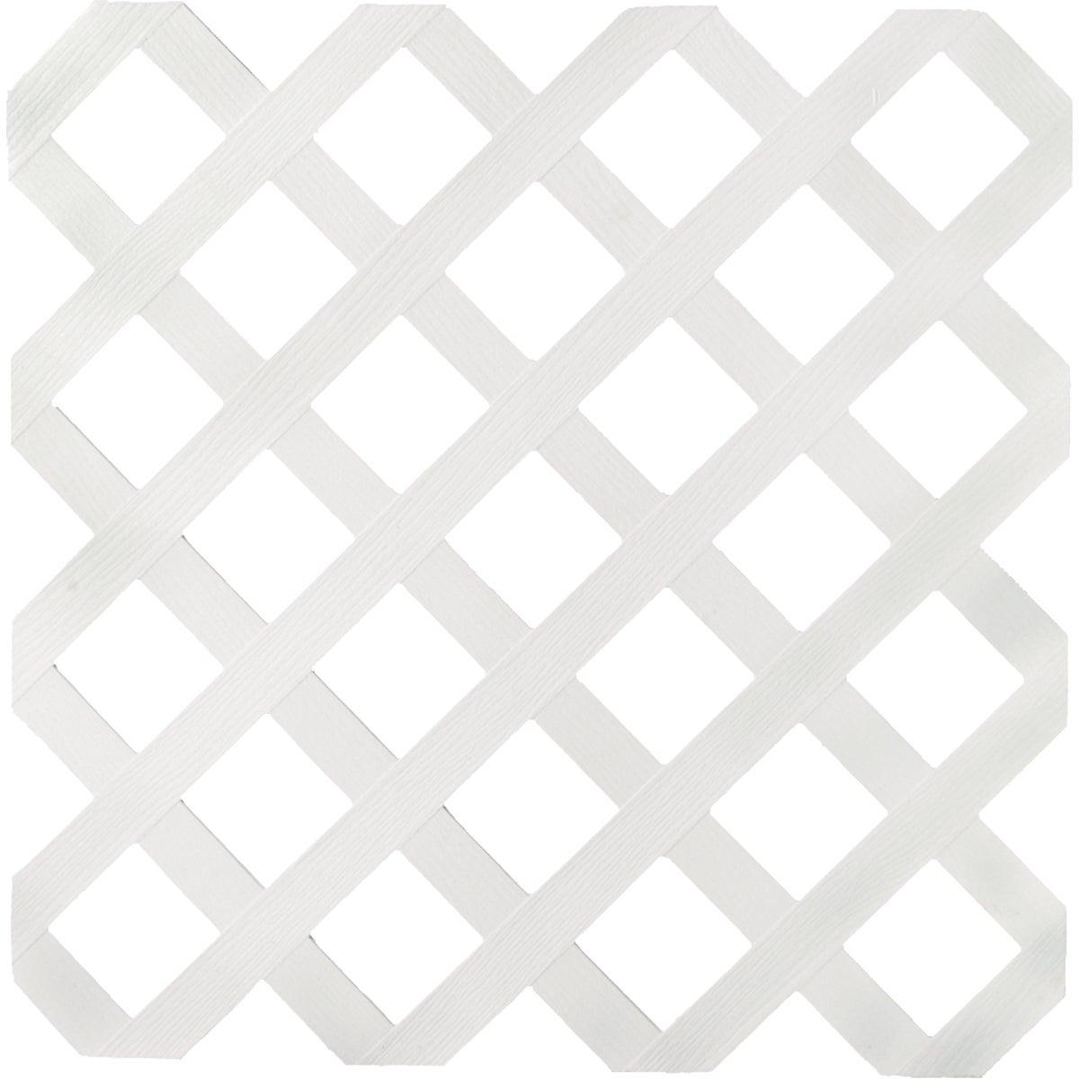 4X8 White Lattice