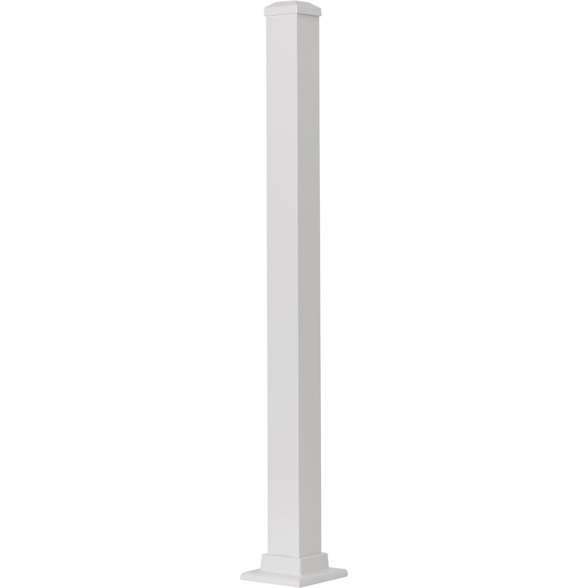 "37"" WHITE FLANGE POST - 629036FW by Gilpin Inc"