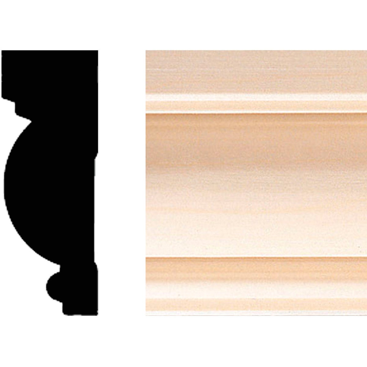 "1X2-3/4""X8' MOULDING - 502 by House Of Fara Inc"