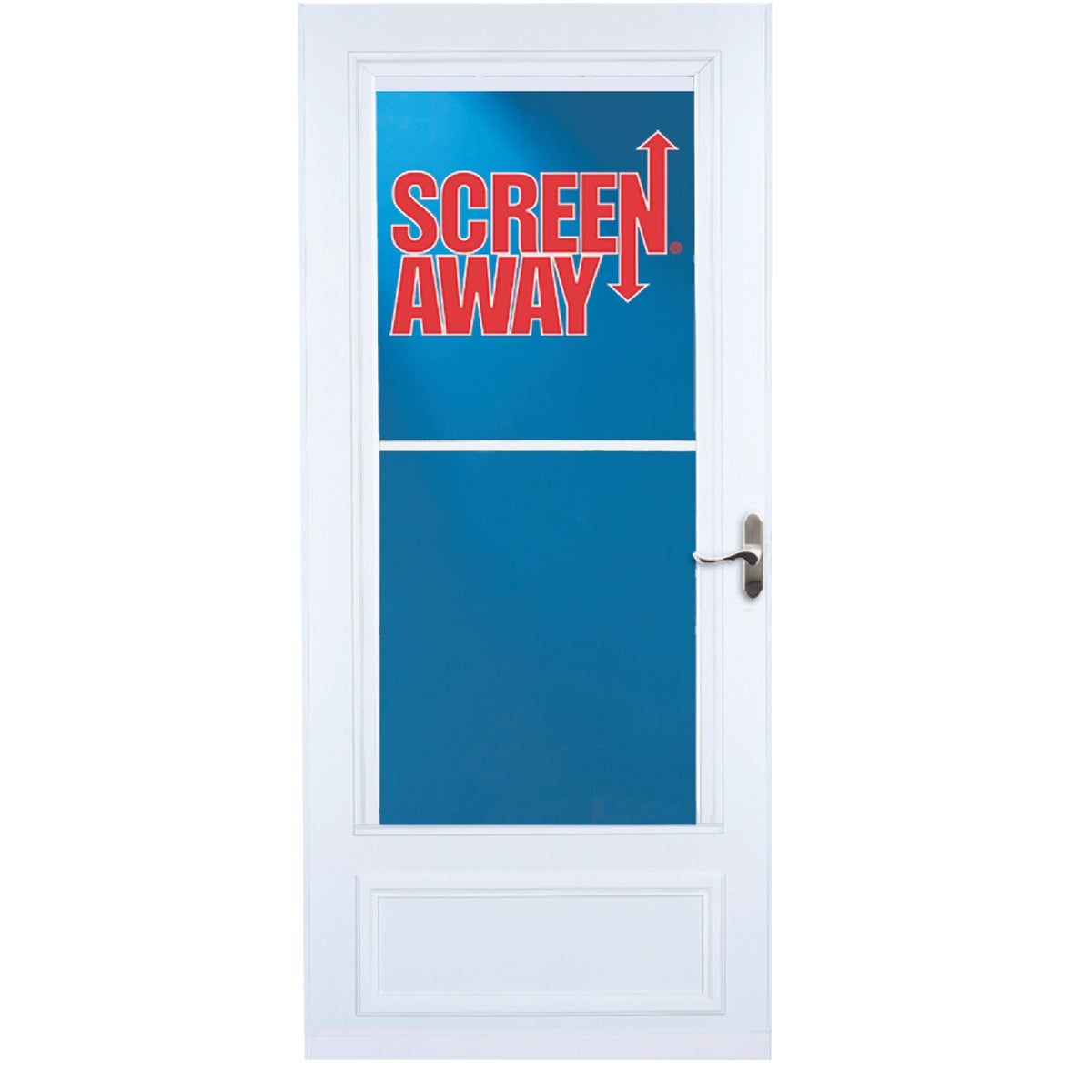 "36"" WHT SCREENAWAY DOOR"