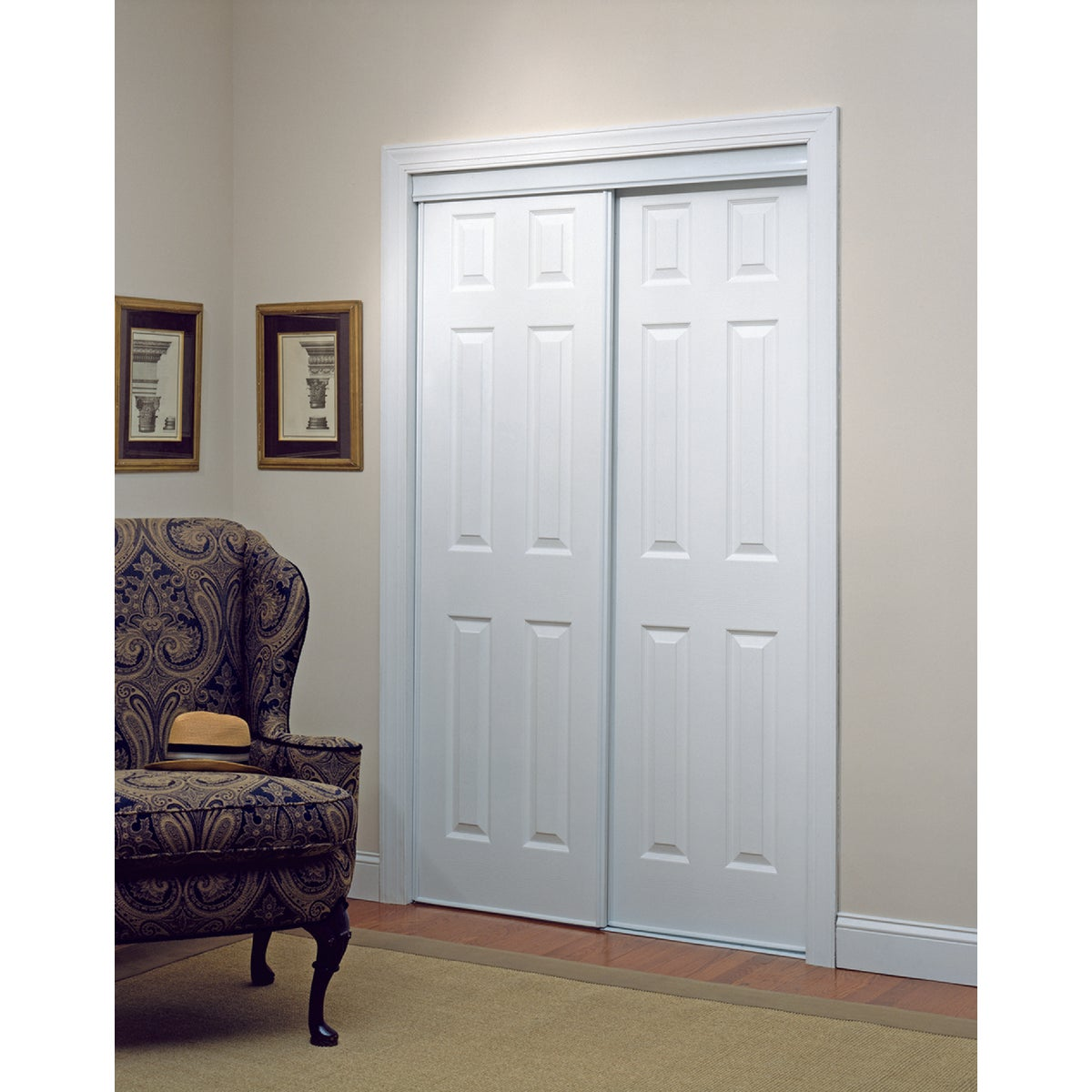 72X80 6-PNL BYPASS DOOR - 24-0012 by Home Decor Innov
