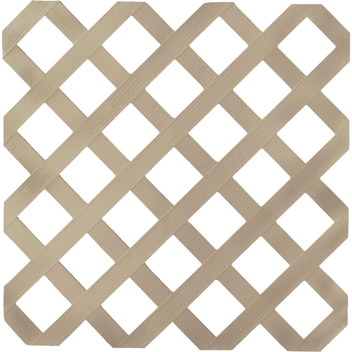 4X8 BROWNSTONE LATTICE - 103647 by Ufpi   Plstc Lattice
