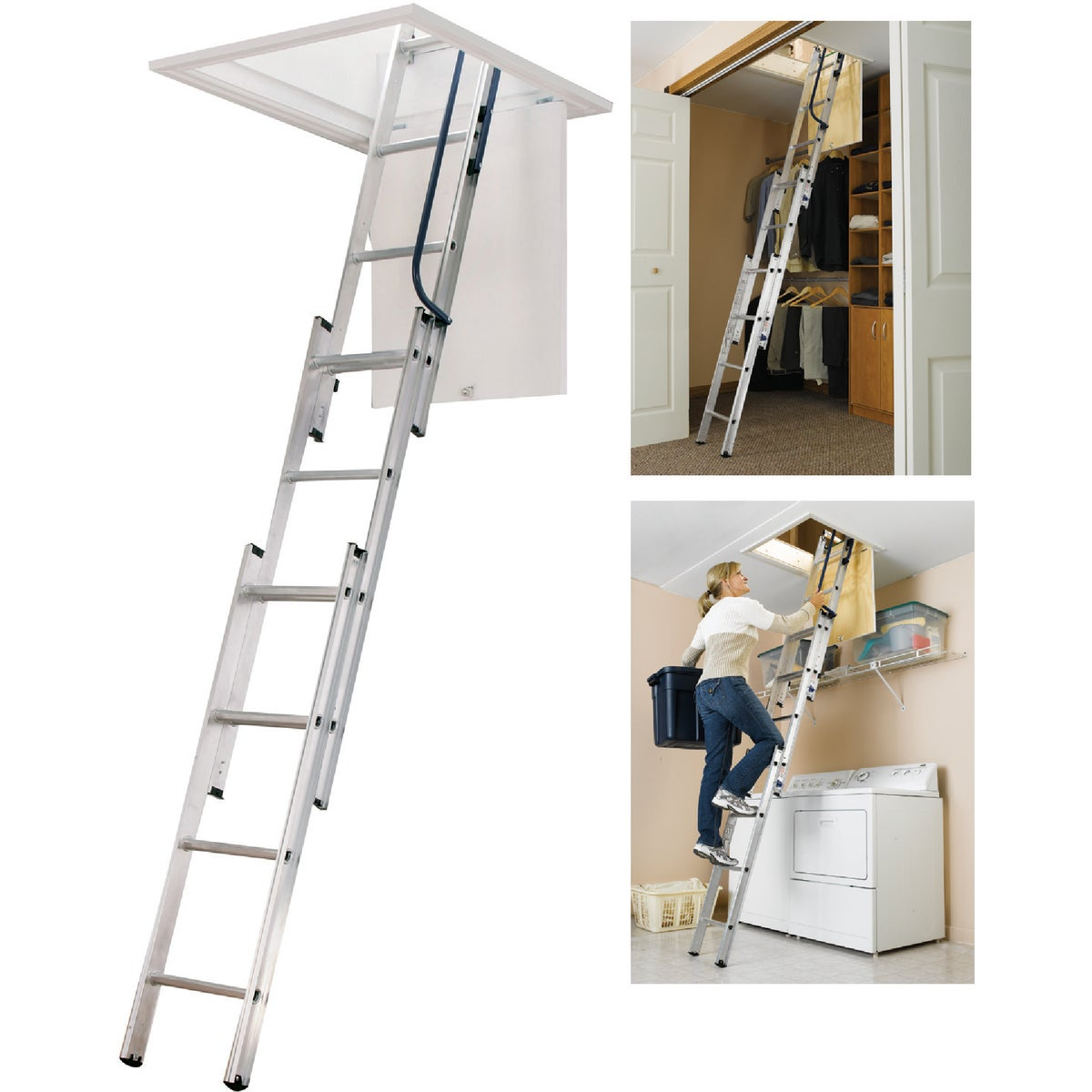 UNIV ALUM ATTIC LADDER - AA1510 by Werner Ladder