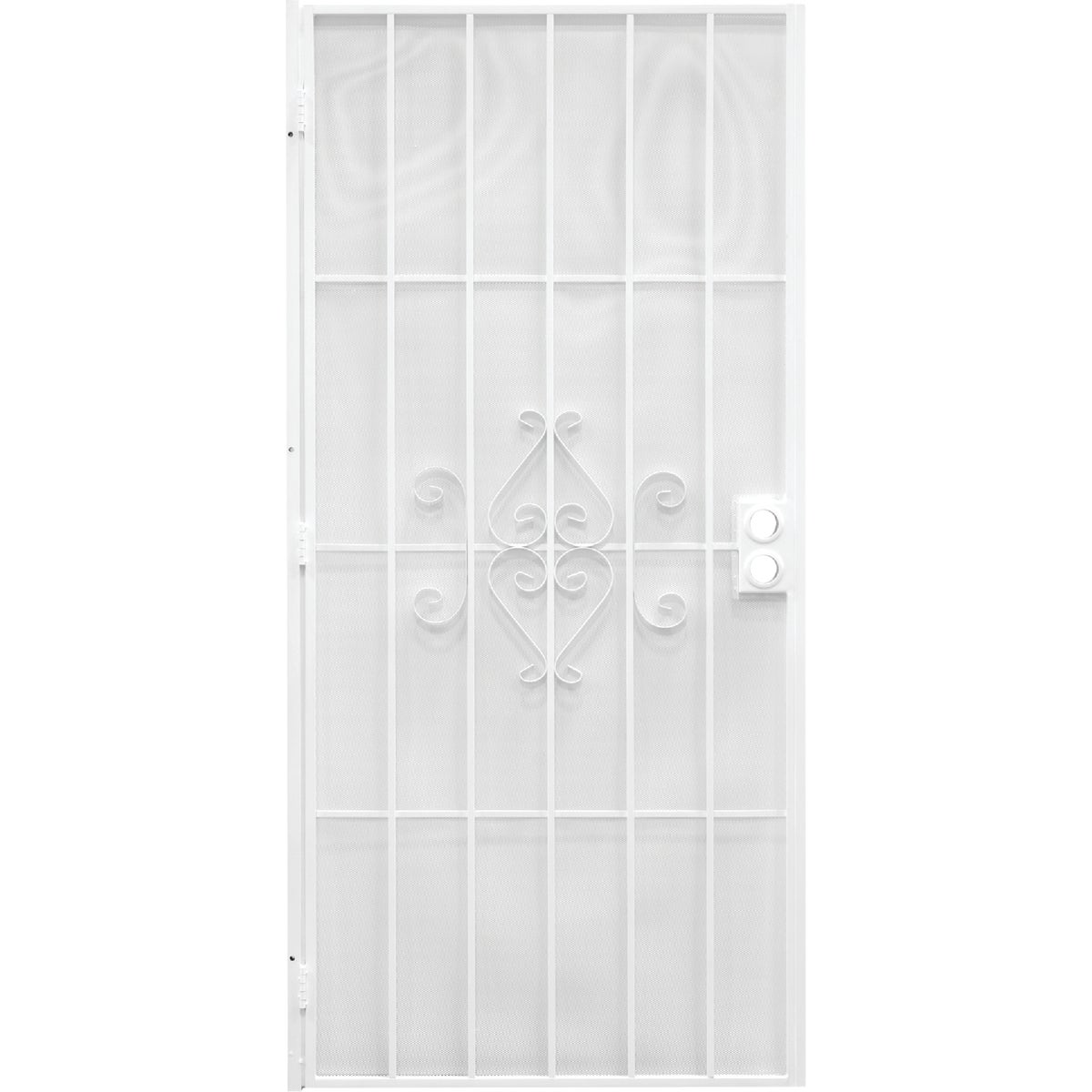 "30"" WHT SECURITY DOOR - 3818WH2668 by Superior Building Pr"