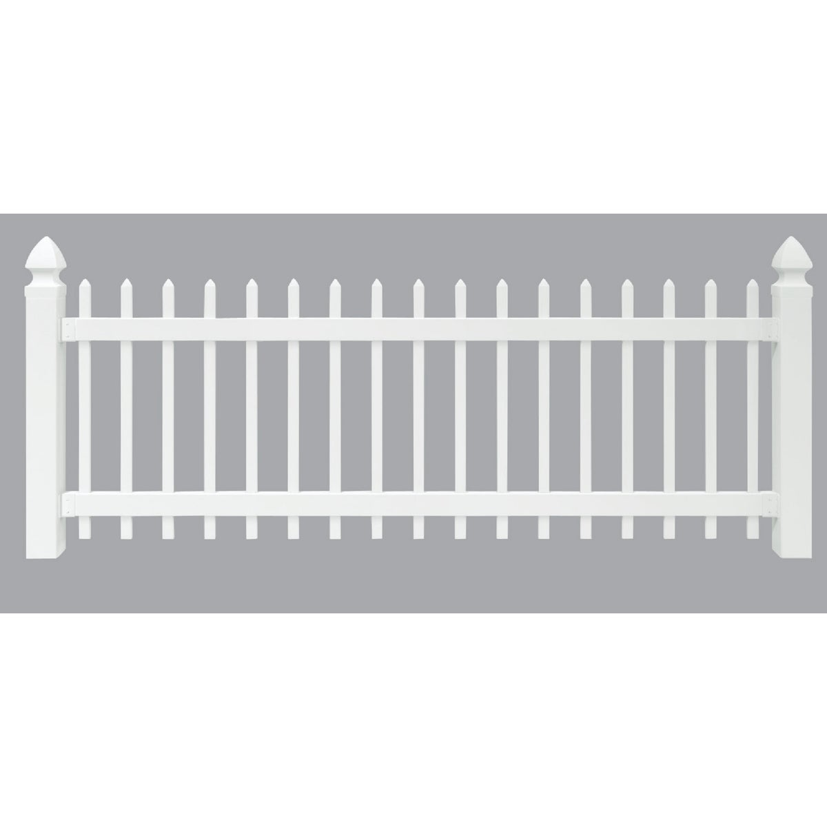 3/8 WH VNYL PICKET FENCE - 128003 by Ufpi Lbr & Treated