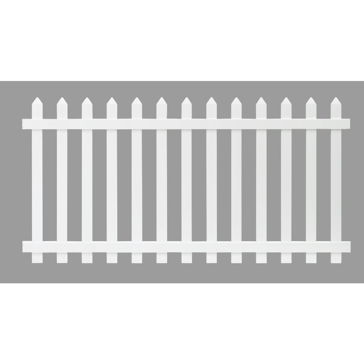 4X8 WH VNYL PICKET FENCE - 128004 by Ufpi Lbr & Treated
