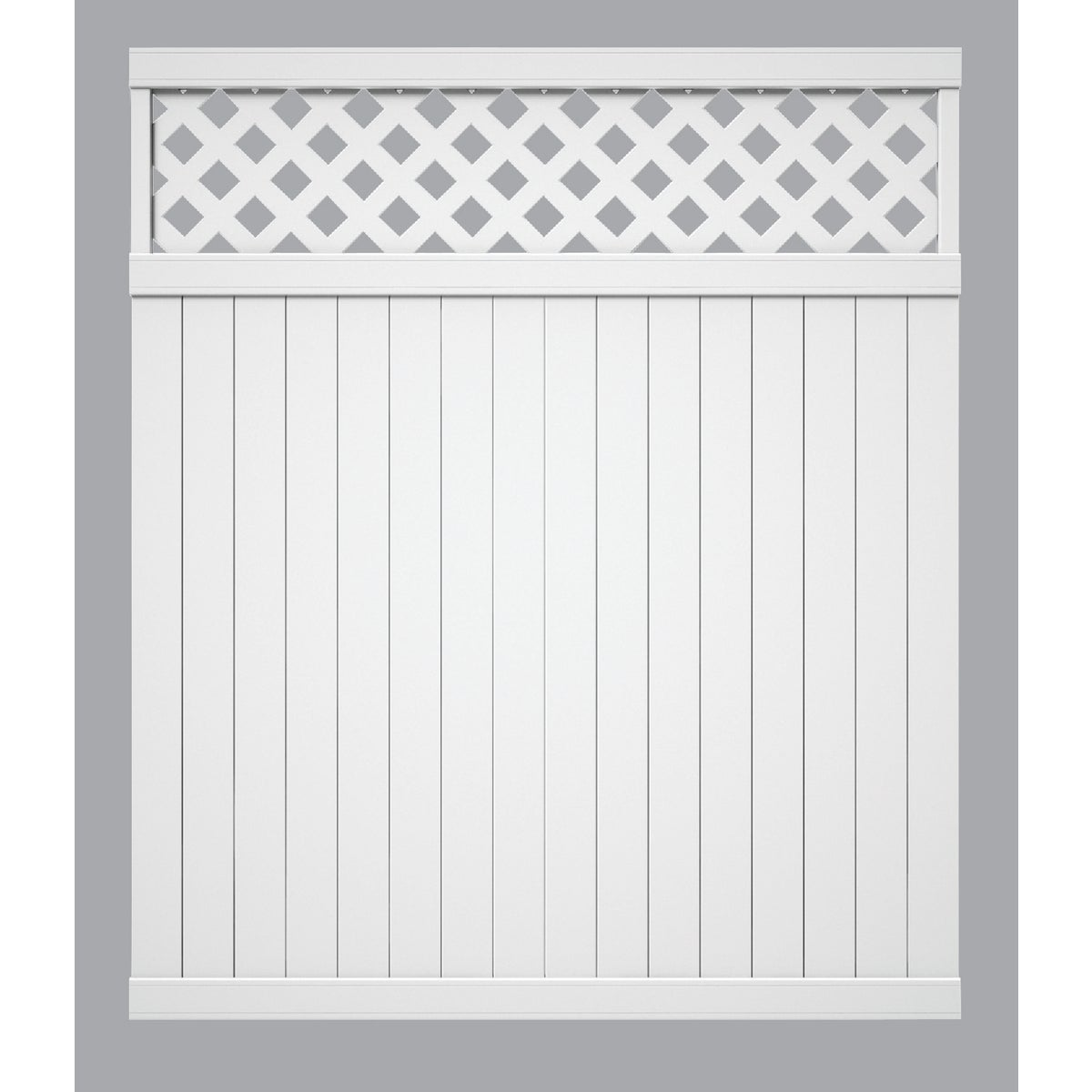 6X6 WH VNL LAT TOP FENCE - 128011 by Ufpi Lbr & Treated