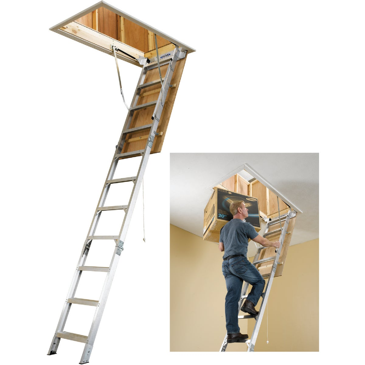 UNIV ALUM ATTIC LADDER - AH2510 by Werner Ladder