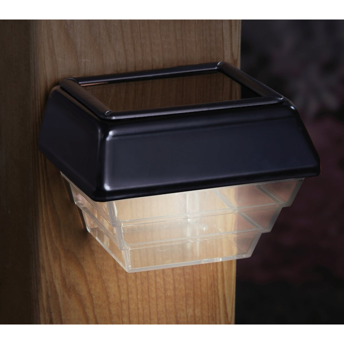 "4"" 2PK BLK SOLAR LIGHT - 94956 by Ufpi   Deckorators"