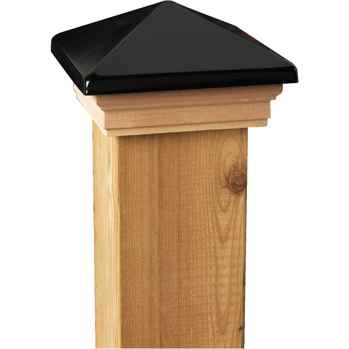 4X4 BLK/CDR VCT POST CAP - 73520 by Ufpi   Deckorators
