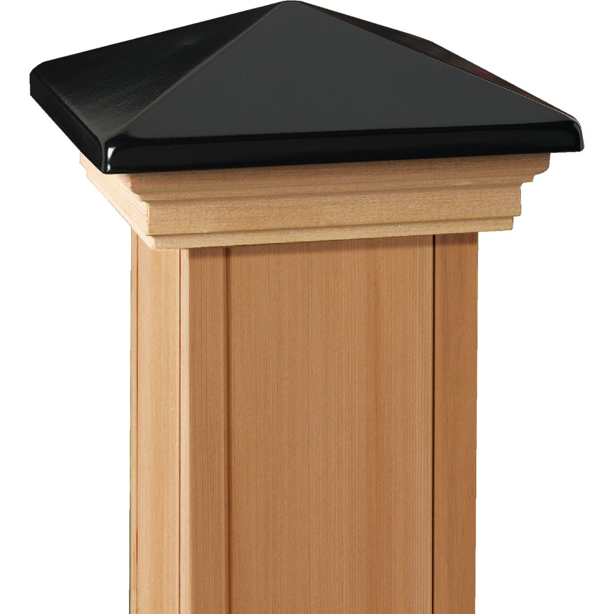 6X6 BLK/CDR VCT POST CAP - 72397 by Ufpi   Deckorators