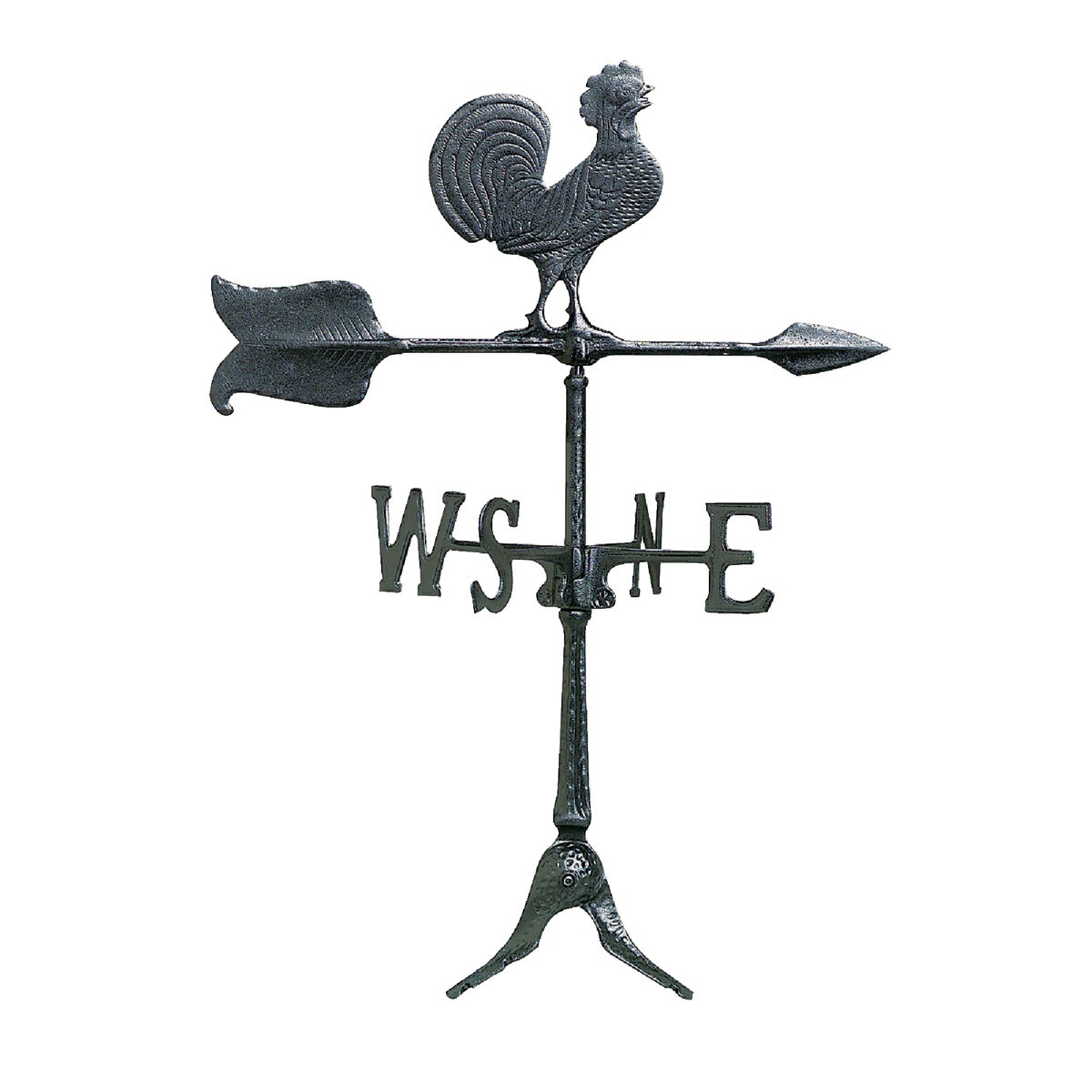 """24"""" BLK ROOSTER WINDVANE - WV3-A-76SR-BKND by Whitehall Products"""