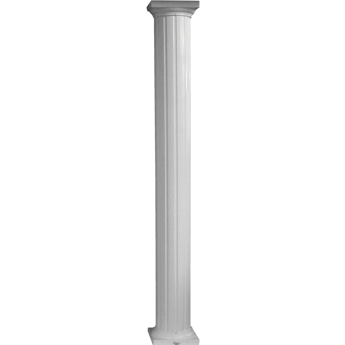 "6""X8' COLUMN RND ALUM - RD0608WHT by DIXIE PACIFIC"