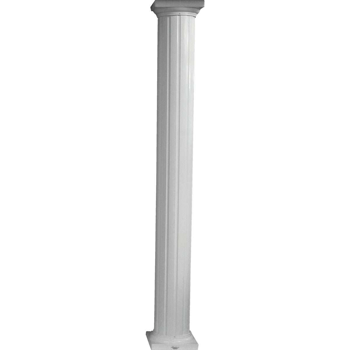 "8""X8' COLUMN RND ALUM - RD0808WHT by DIXIE PACIFIC"