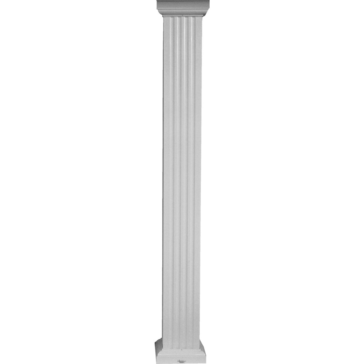 "6""X8' COLUMN SQ ALUM - SQ0608WHT by DIXIE PACIFIC"