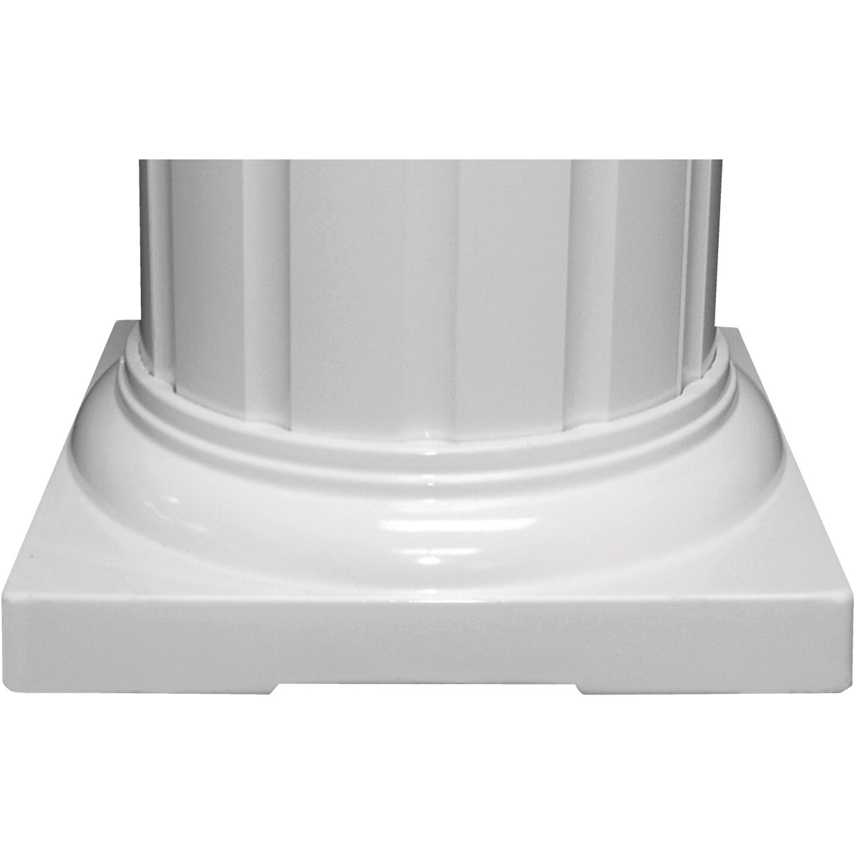 "6"" ROUND CAP/BASE SET - RDSTD06WHT by DIXIE PACIFIC"