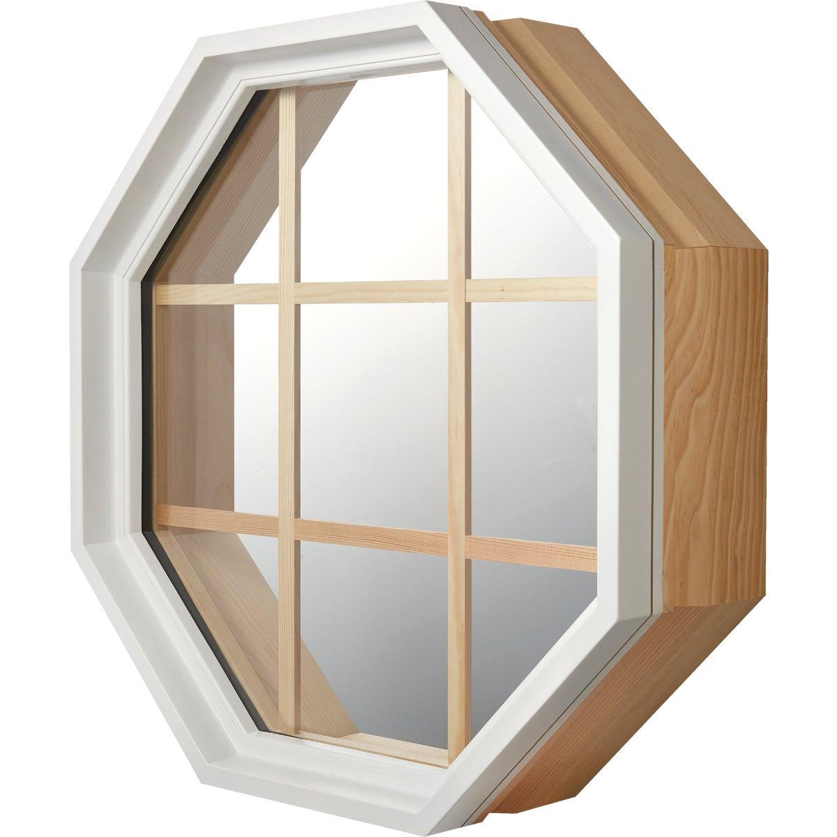 Wht Vnyl Octagon Window