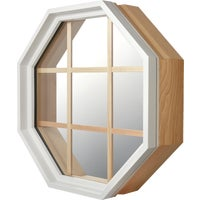Wht Vnyl Octagon Window