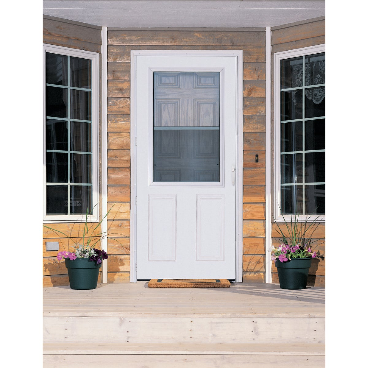 "36"" WHT MVENT TRAD DOOR - 83046 by Larson Mfg Co"