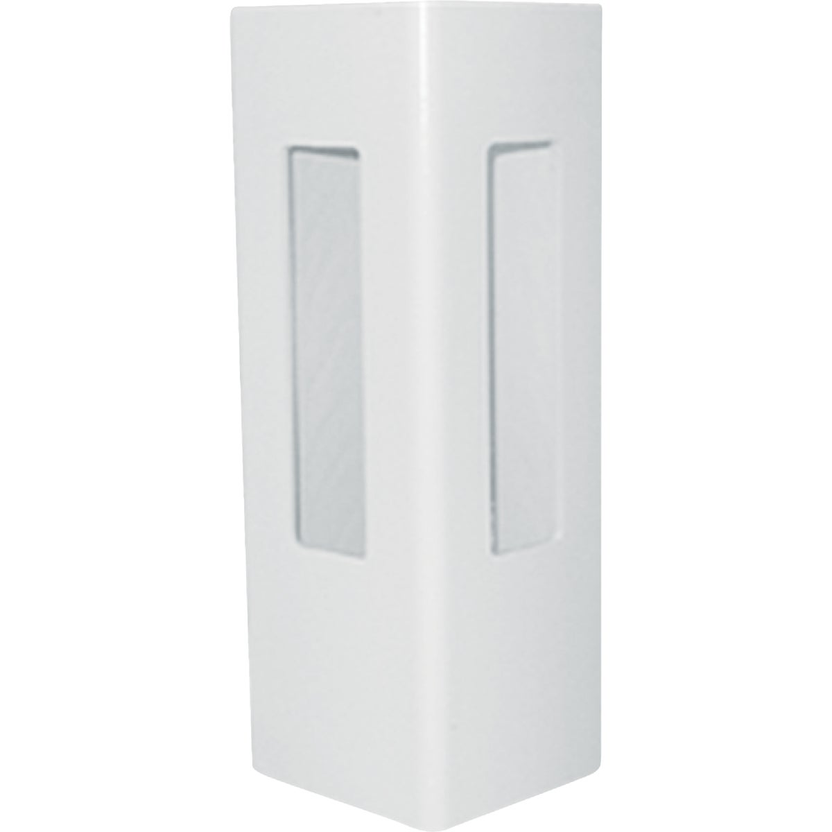 5X72 WHT 2-RAIL CRN POST - FW652C by Genova Bldg Products