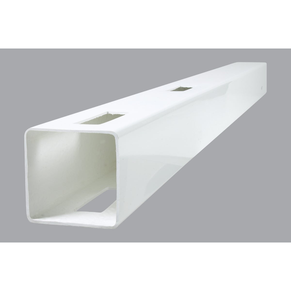 Genova Building Products 5X72 WHT 2RAIL LINE POST FW652L