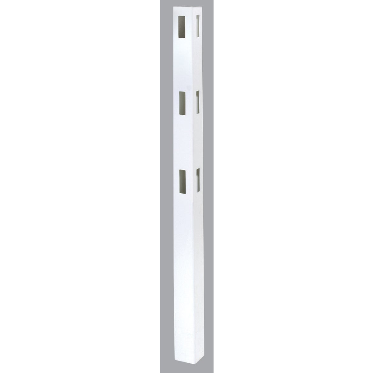 5X84 WHT 3-RAIL CRN POST - FW653C by Genova Bldg Products
