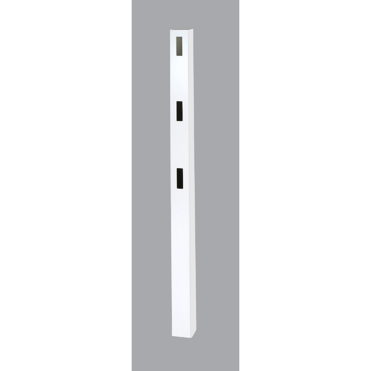 5X84 WHT 3-RAIL END POST