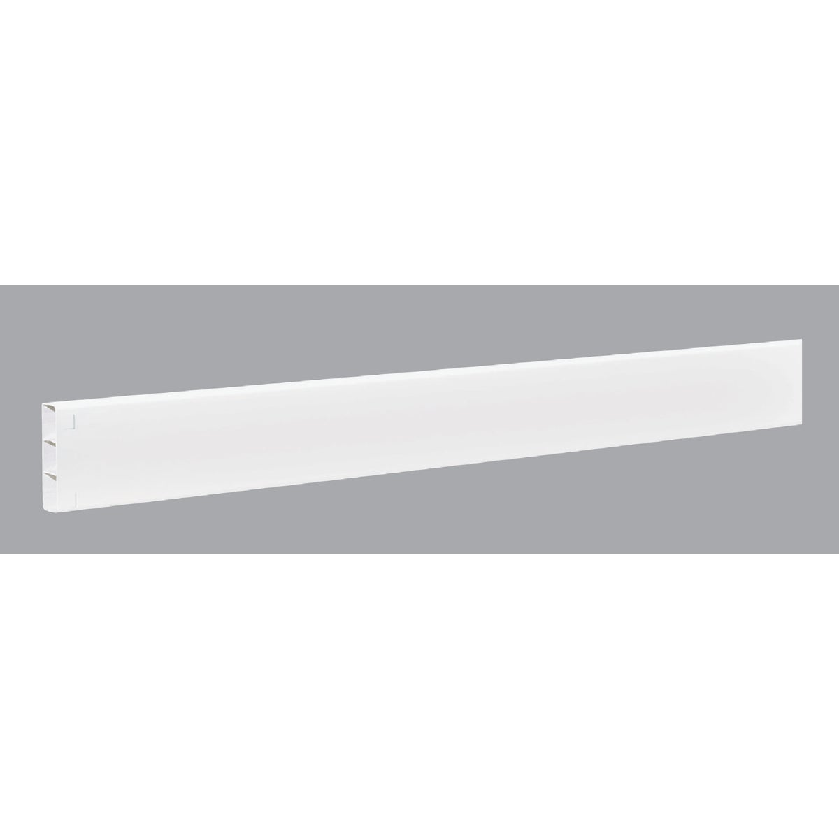2X6X96 WHT RIBBED RAIL - FW196B by Genova Bldg Products