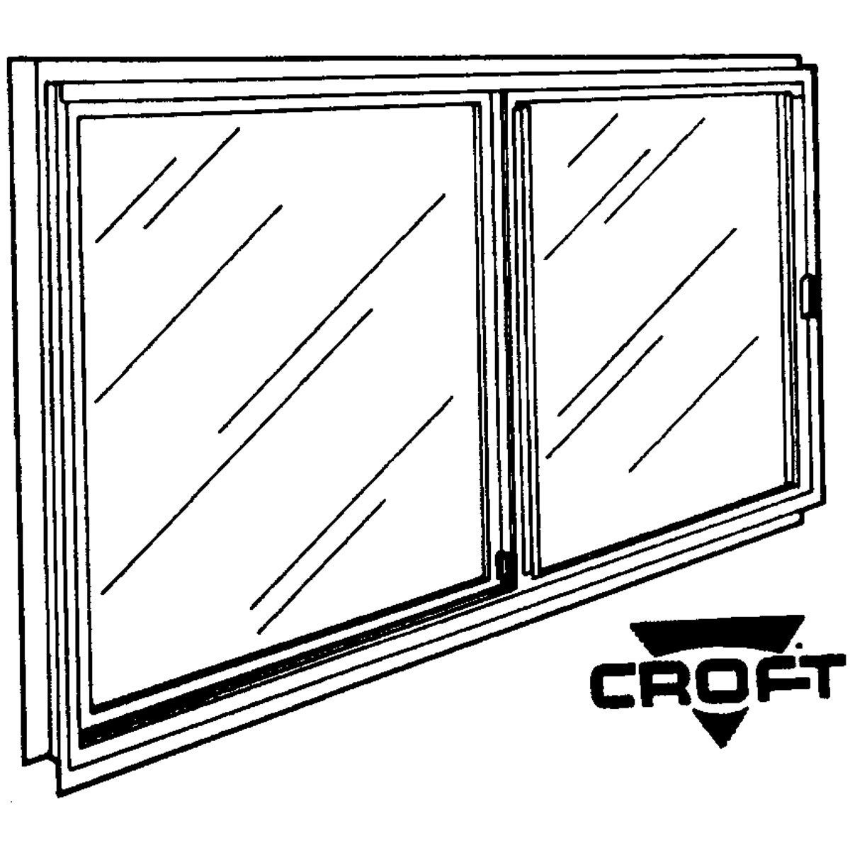 70W 46X22 SLIDING WINDOW - F0181713 by Croft Llc