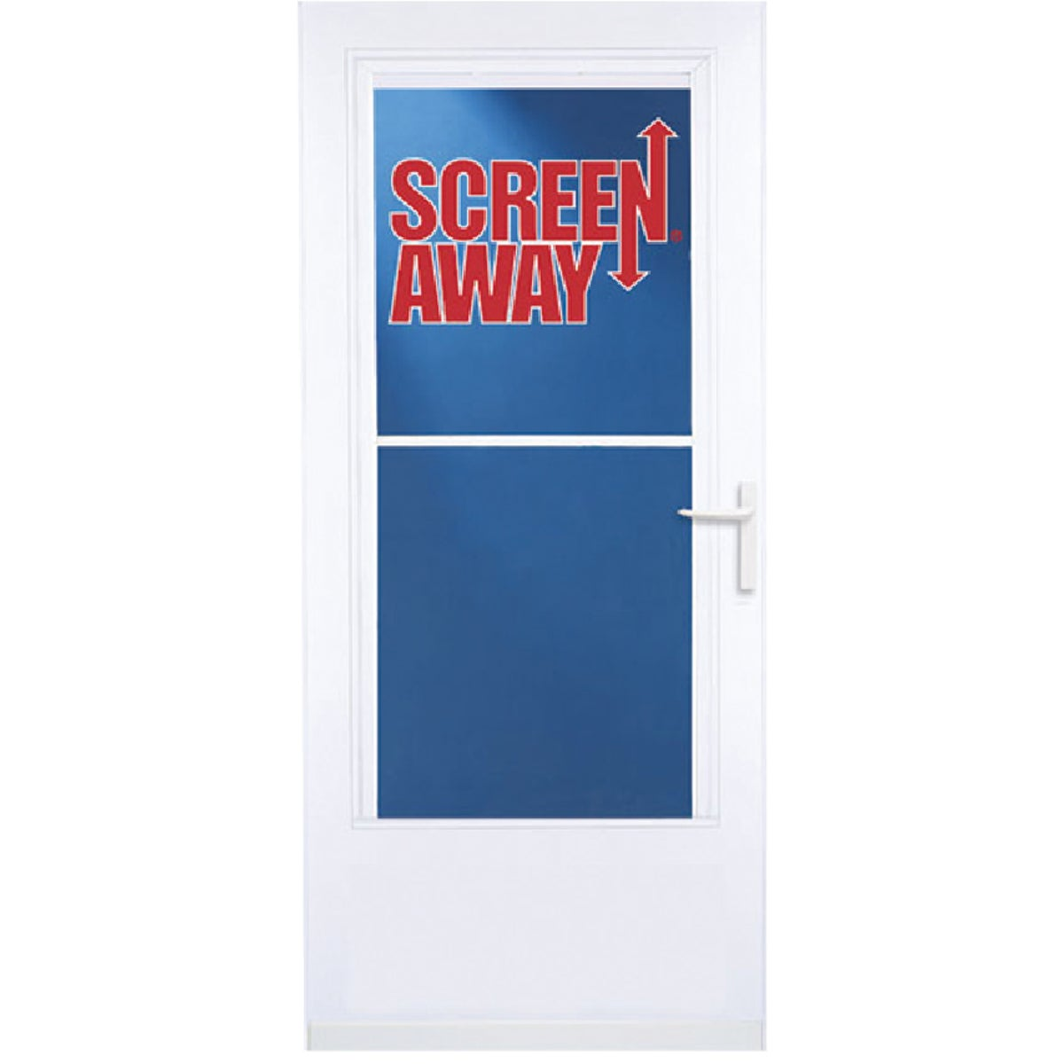 "32"" WHT SCREENAWAY DOOR - 37081 by Larson Mfg Co"