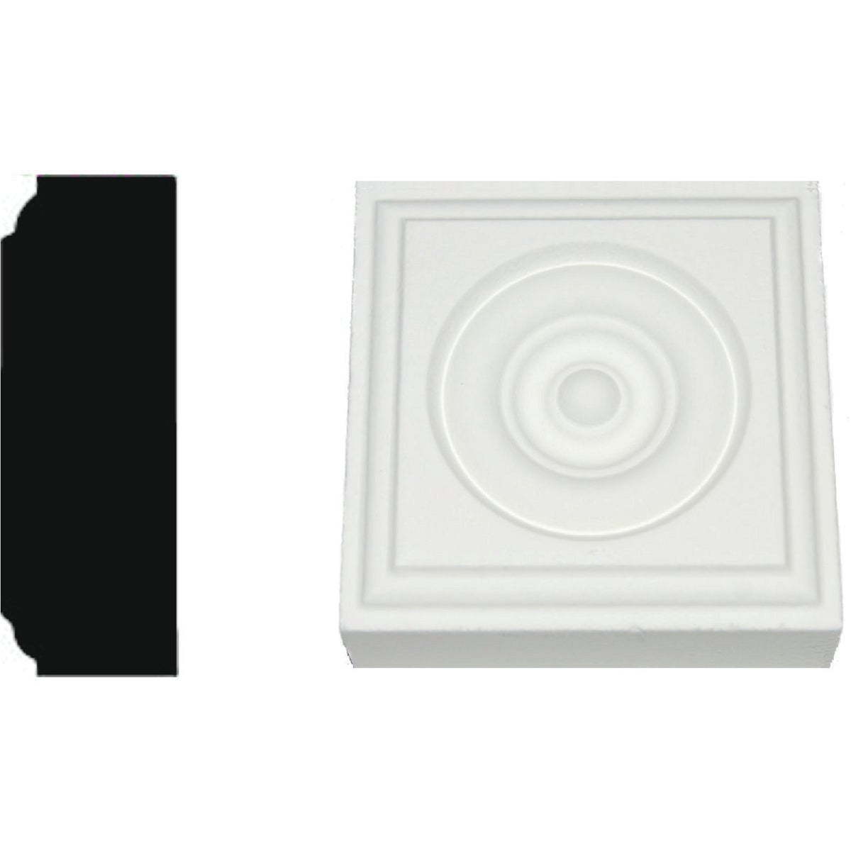 7/8X2-1/2 MDF ROSETTE - R90MDF by House Of Fara Inc
