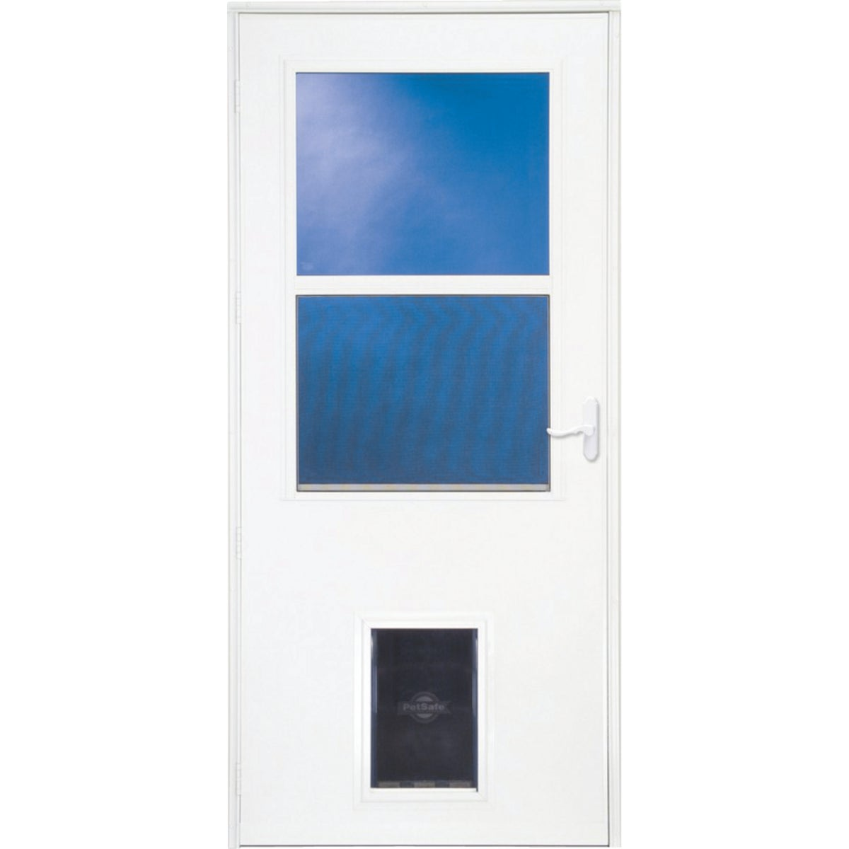 "36"" WHT W/PET STORM DOOR - 37079032 by Larson Mfg Co"