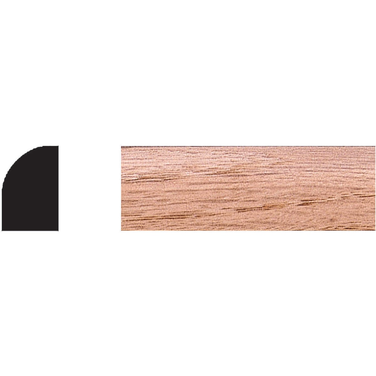 "1/2X3/4""X8' OAK SHOE - 9550 by House Of Fara Inc"