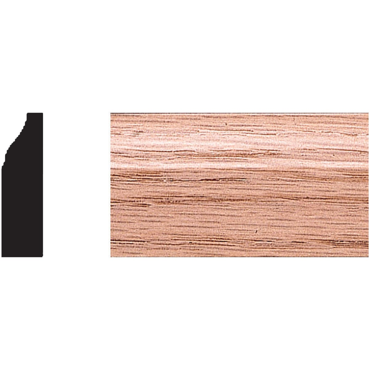 "3/8X1-1/4""X7' OAK STOP - 9566 by House Of Fara Inc"