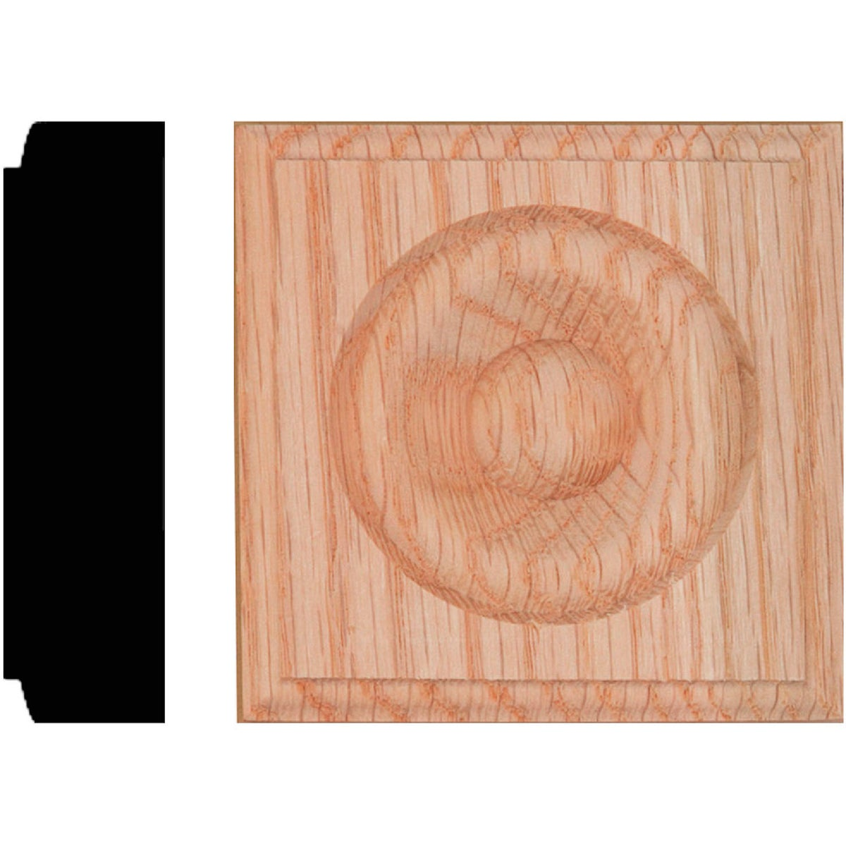 7/8X3-1/4 OAK ROSETTE - R50 by House Of Fara Inc