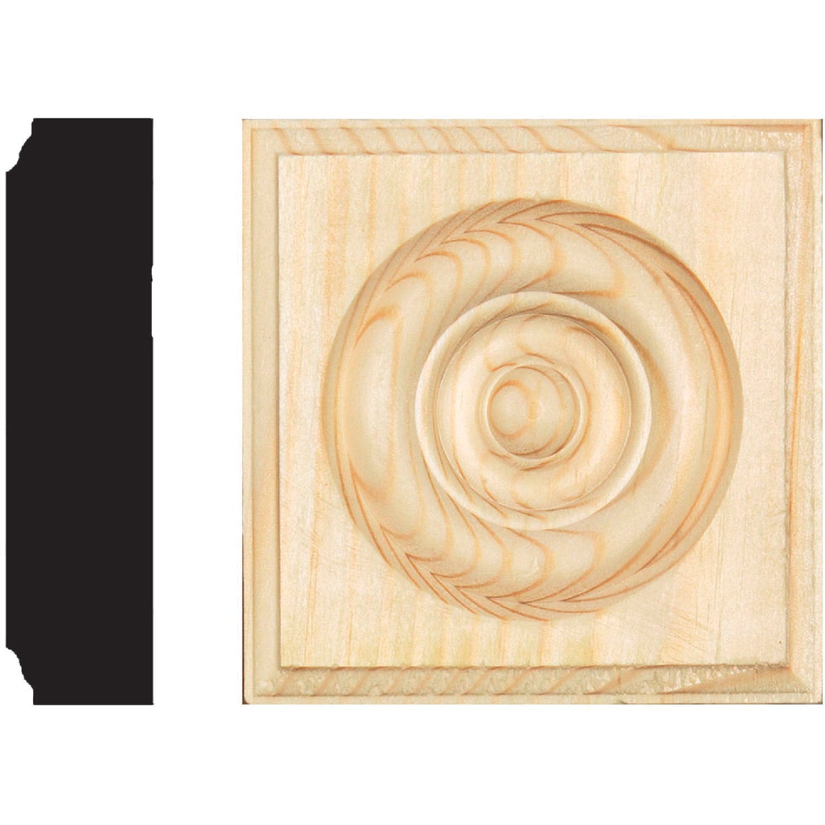 7/8X3-1/2 PINE ROSETTE - R10 by House Of Fara Inc