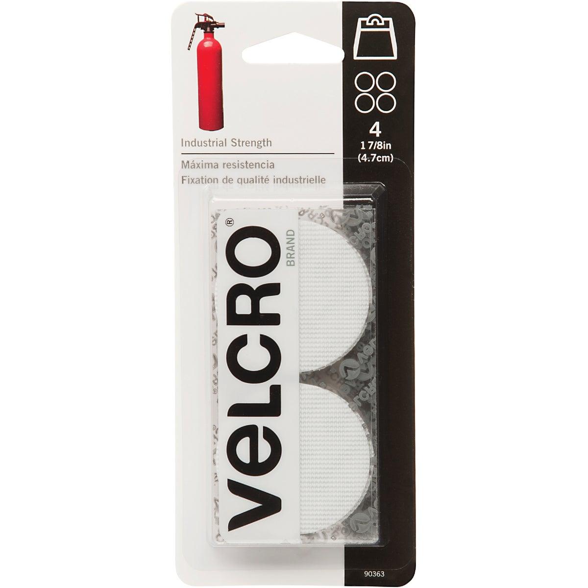 VELCRO Brand 1-7/8 In. White Industrial Strength Hook & Loop Disc (4 Ct.)