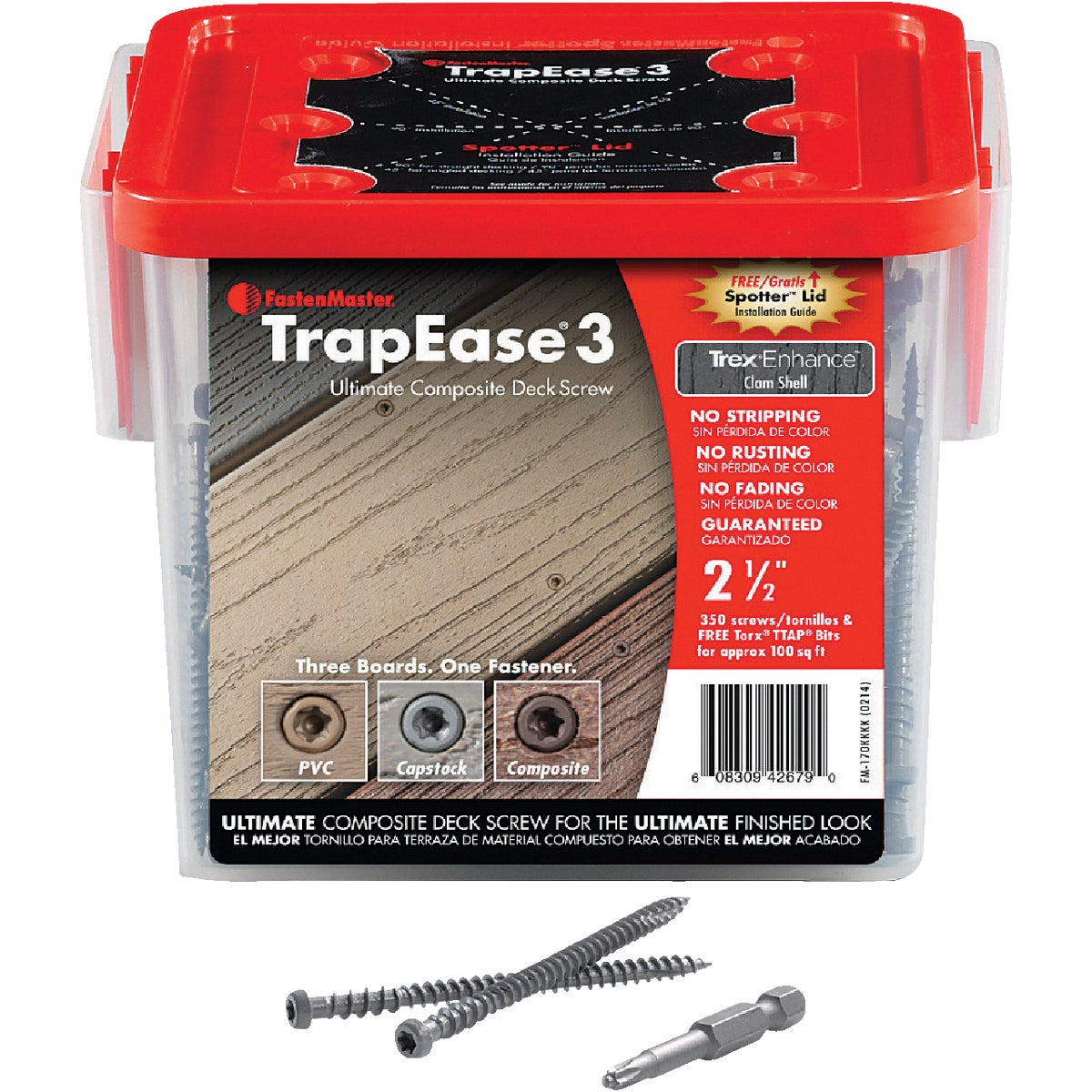 Brn Trapease3 Deck Screw