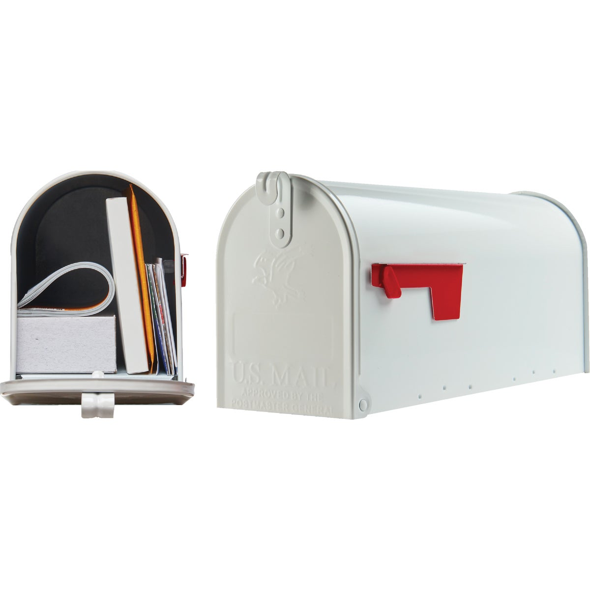 WHITE T1 MAILBOX - E11W#T1 by Solar Group