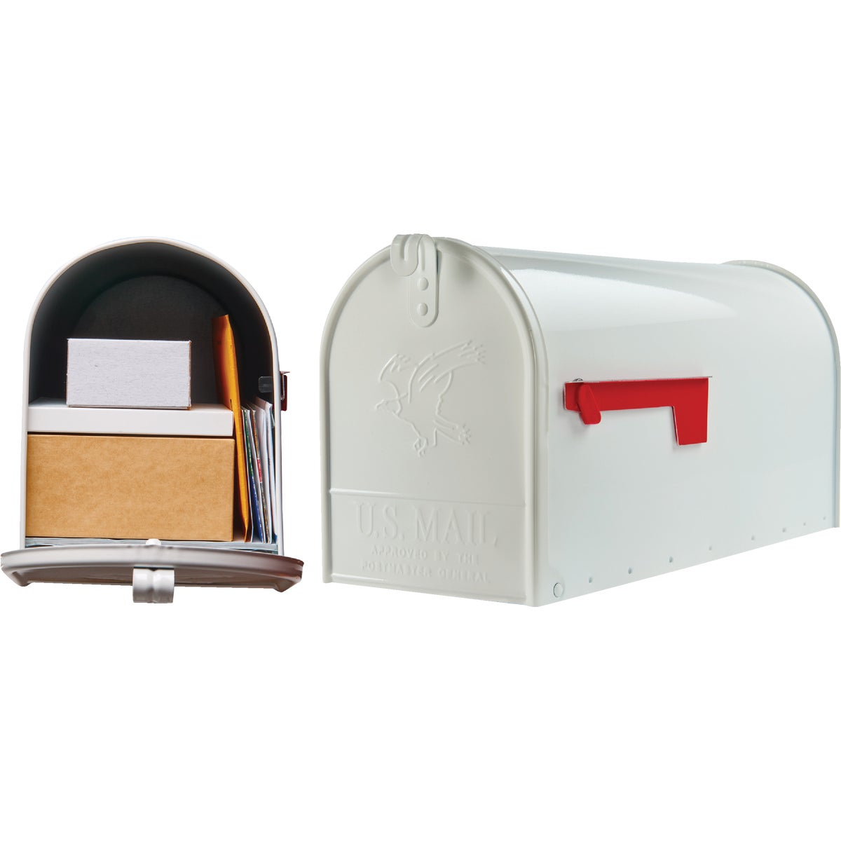 WHITE T2 MAILBOX - E16W#T2 by Solar Group