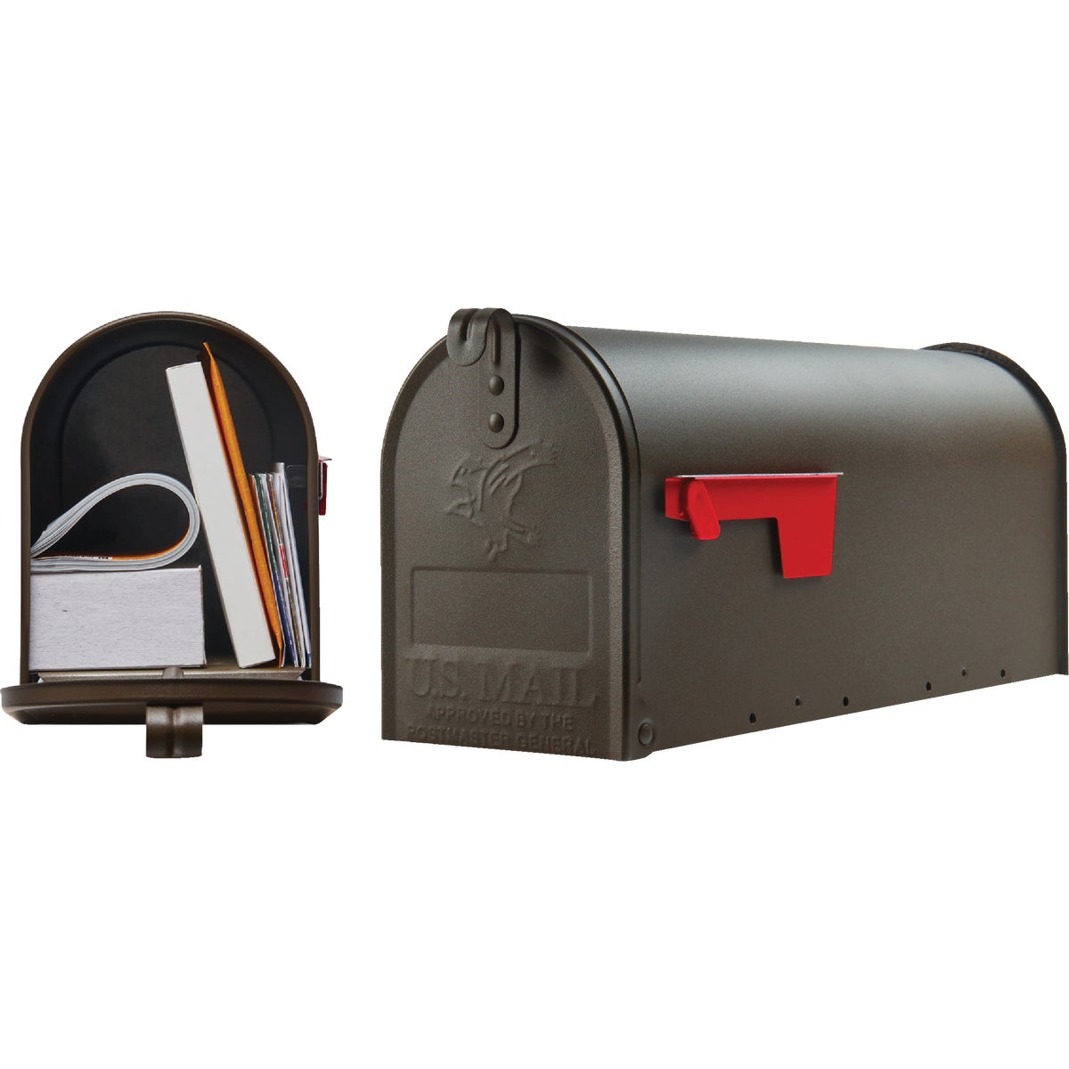 BRONZE T1 MAILBOX - E11BZ#T1 by Solar Group