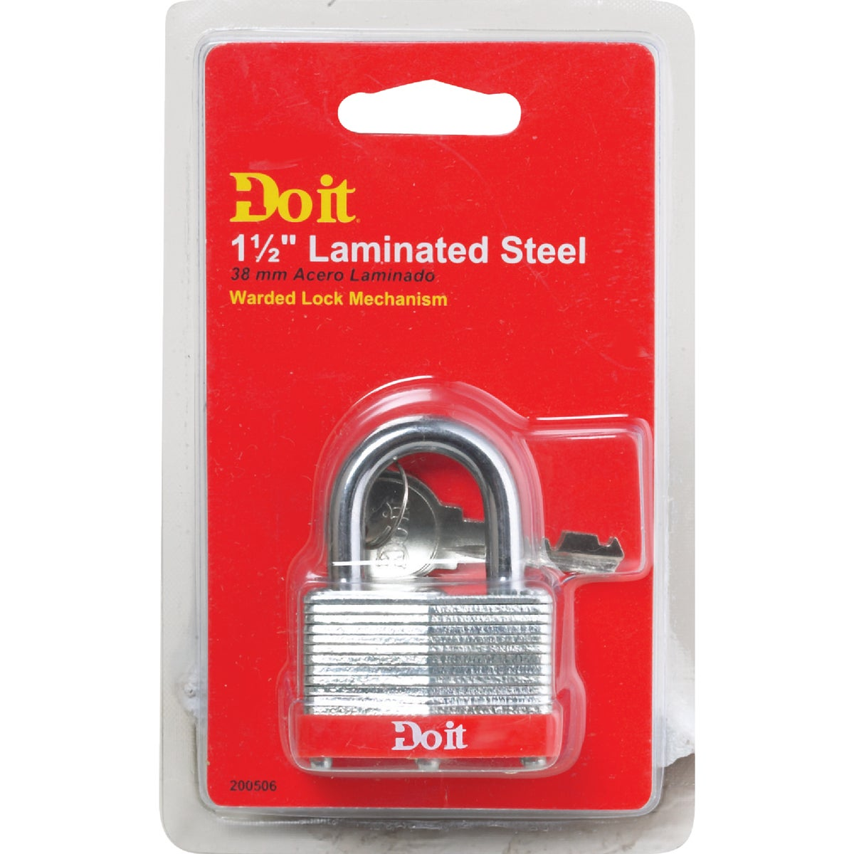 "1-1/2"" WARDED PADLOCK - 8596DDIB by Master Lock Company"