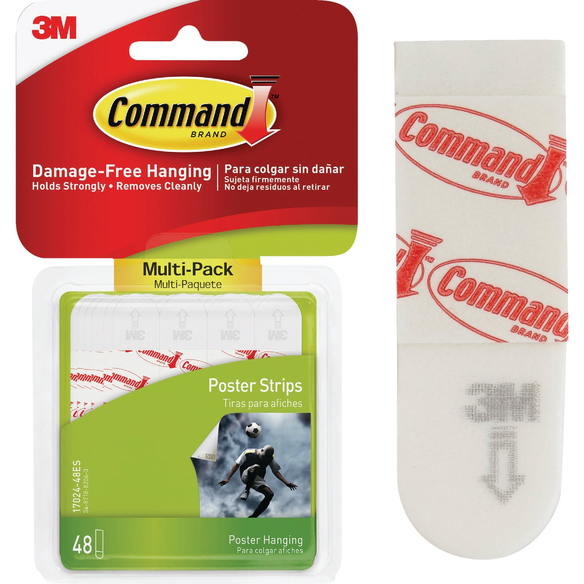 3M Command Assorted Poster Hanging Strips Value Pack