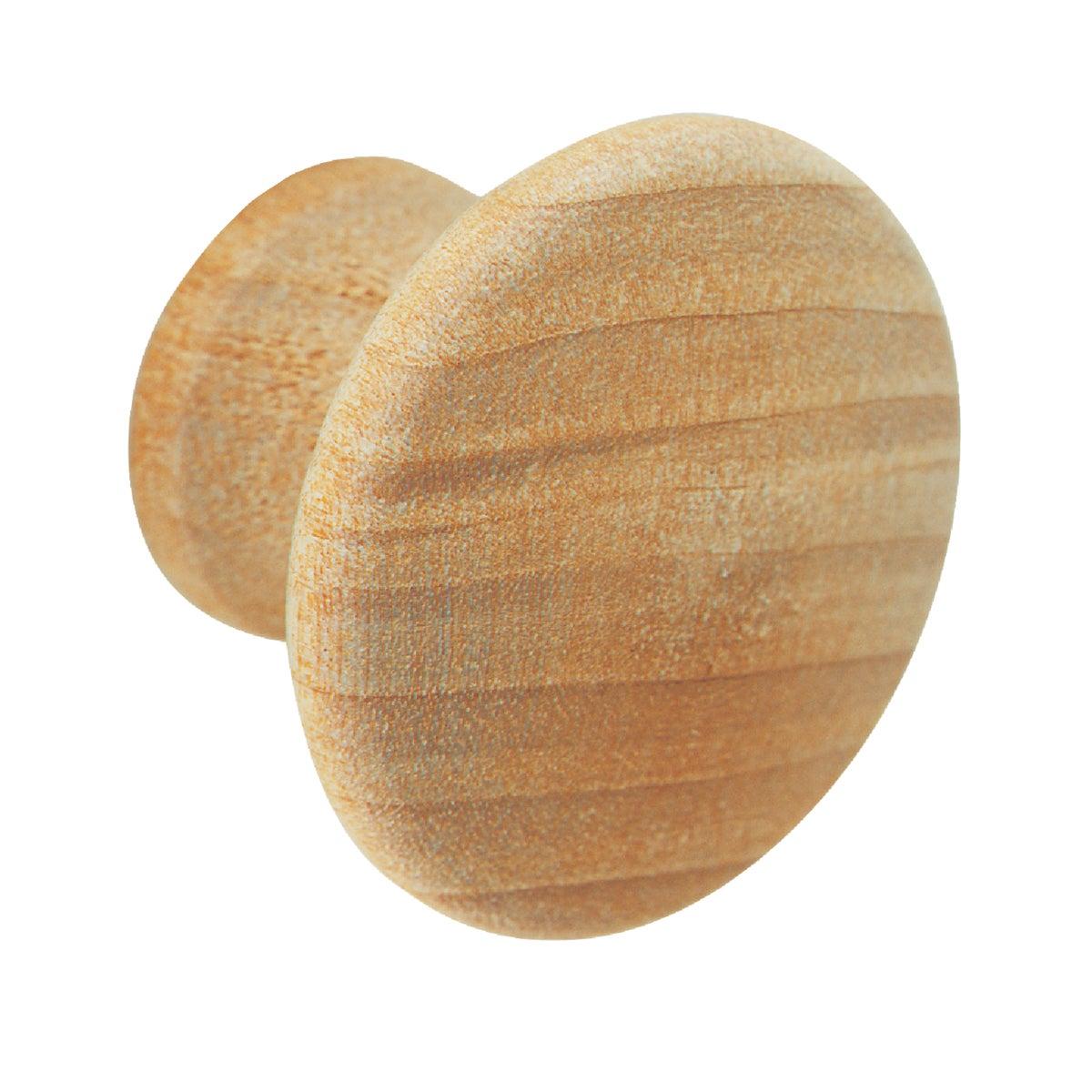 Amerock 1-1/4 In. Round Wood Knob